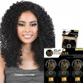 Motown Tress 100% Virgin Brazilian 10A+ Bundles Bohemian Curl 3Bundle With 4x4 Closure