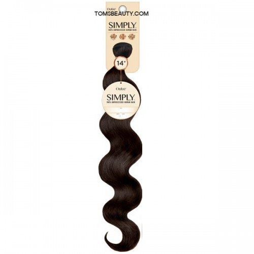 Outre 100% Unprocessed Human Hair Simply Coconut Weave - NATURAL BODY 10-20 Inch