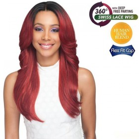 Bobbi Boss Human Hair Blend 360 Swiss Lace Wig MBLF330 TAYLAH