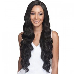 Bobbi Boss Human Hair Blend 4x4 Swiss Lace Front Wig MBLF150 PEKELA