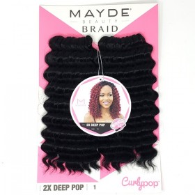 Mayde Beauty Curly Pop Braid 2X DEEP POP