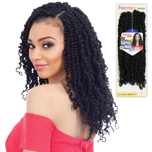 FreeTress Crochet Braids 2X Spring Twist 12""