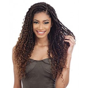 FreeTress Synthetic Hair Crochet Braids Boho Hippie Loc 20""