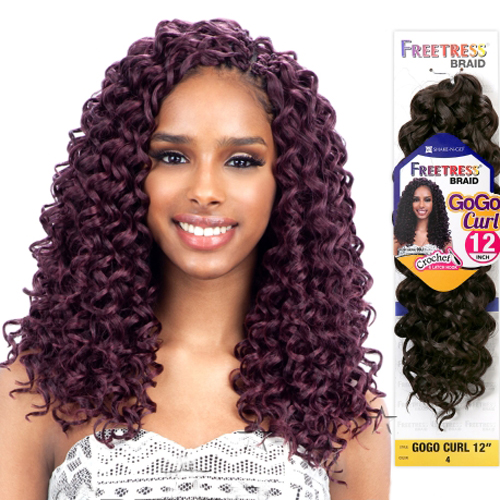 FreeTress Synthetic Hair Crochet Braids GoGo Curl 12""