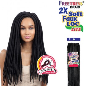 FreeTress Braid 2X Soft Faux Locs Curly Lite 20""