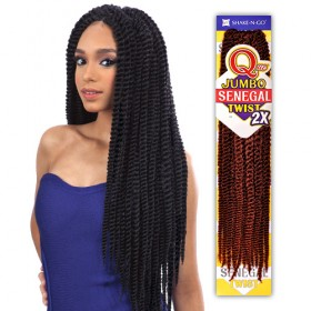 Que Crochet Braid JUMBO SENEGAL TWIST 2X
