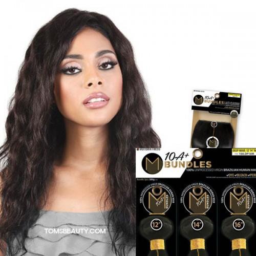 Motown Tress 100% Virgin Brazilian 10A+ Bundles Loose Wave 3Bundle With 4x4 Closure