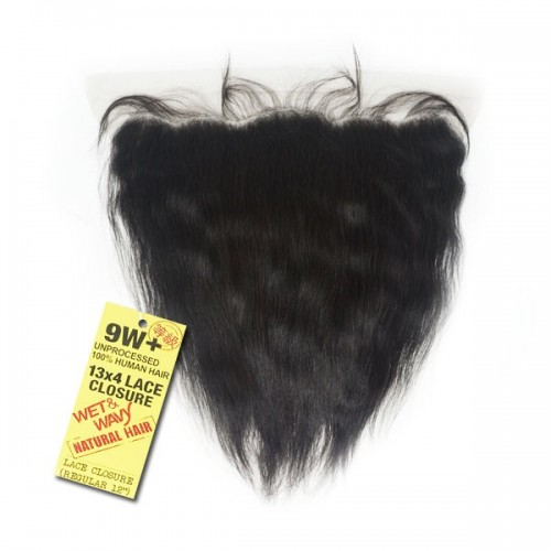 Shake-N-Go 100% Unprocessed Natural Human Hair 9W DEEP INDIAN WET&WAVY 13X4 LACE CLOSURE