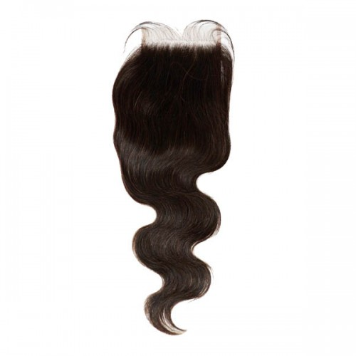 """Shake-N-Go 100% Unprocessed Natural Human Hair - NVH BODY WAVE 4""""x6"""" Lace Closure 12 Inch"""