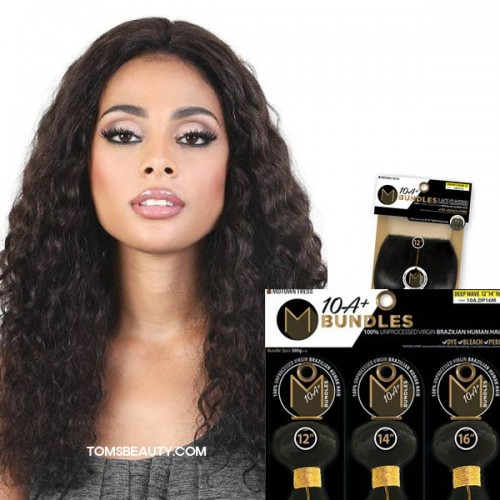 Motown Tress 100% Virgin Brazilian 10A+ Bundles Deep wave 3Bundle With 4x4 Closure