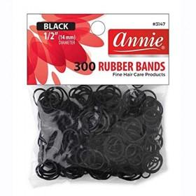 Annie 300 Rubber Bands #3147 Black