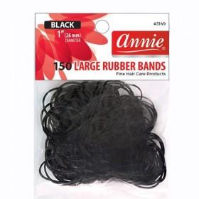 Annie 150 Rubber Bands #3149 Black