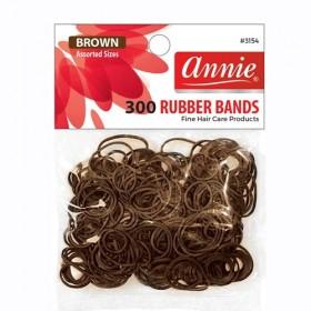 Annie 300 Rubber Bands #3154 Brown