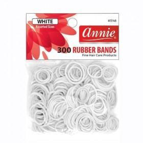 Annie 300 Rubber Bands #3148 White