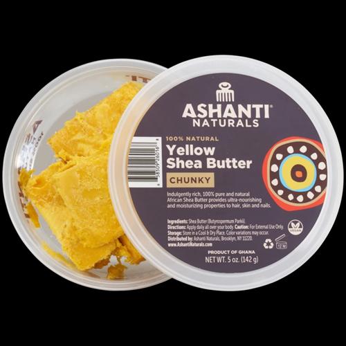 Ashanti Naturals 100% Chunky African Yellow Shea Butter