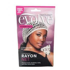 Evolve Handmade Rayon Hair Net Assorted Colors