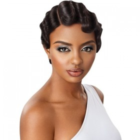 "Outre Premium Duby Diamond 6"" Lace Part Lace Part Lace Front Wig FINGER WAVE"