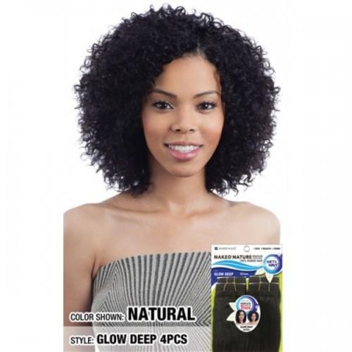 Shake-N-Go Naked Nature Wet & Wavy 100% Brazilian Virgin Remy Human Hair Weave GLOW DEEP