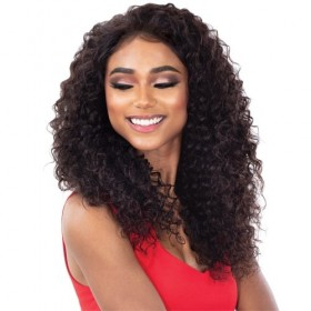 Shake N Go Virgin Human Hair Wet & Wavy 13x5 Lace Closure IBIZA DEEP CURL 10~16""