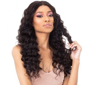 Shake N Go Virgin Human Hair Wet & Wavy 13x5 Lace Closure IBIZA LOOSE DEEP 10~16""