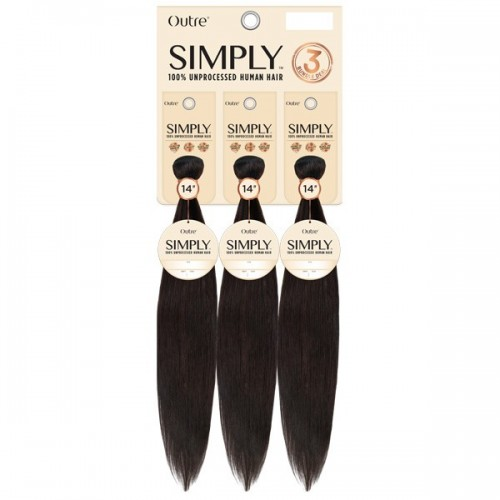 Outre Simply 100% Unprocessed Human Hair Coconut Weave Bundle - NATURAL STRAIGHT