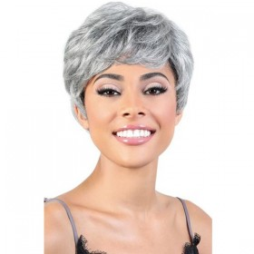 Motown Tress Silver Gray Hair Collection Wig - SH. AISHA
