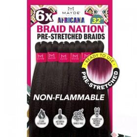 "Mayde Beauty 6X Africana Braid Nation 24"""