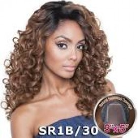 Human Hair Blend Lace Wigs