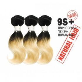 Unprocessed 100% Natural Human Hair 9s+Body Wave 3PCS super bundle sale