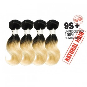 Unprocessed 100% Natural Human Hair 9s+Body Wave 4PCS super bundle sale.