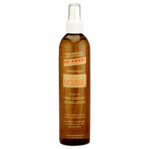 Fantasia Liquid Mousse Spray on Firm Control Styling Lotion 12oz
