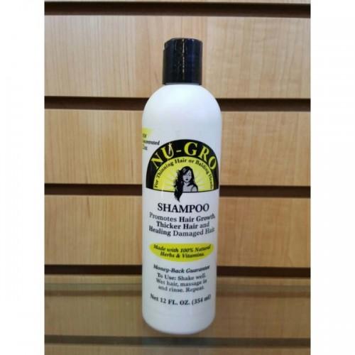 Nu Gro Shampoo Promotes Hair Growth & Thicker Hair 12 oz