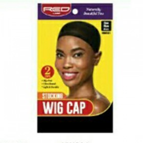 Red by Kiss Stocking Wig Cap Black HWC01 2PCS