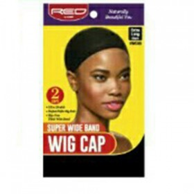 Red by Kiss Super Wide Band Cap Black HWC05 2PCS (Extra Long Size)
