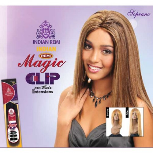BIJOUX INDIAN REMI HUMAN HAIR SOPRANO MAGIC CLIP ON 18""