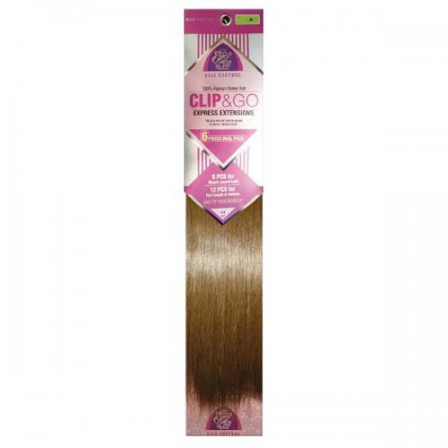 HAIR COUTURE 6-PCS CLIP & GO STRAIGHT 18""